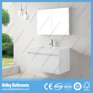 High Gloss Painting Bathroom Vanity with Horse Metal Drawer and Mirror Cabinet (BF369D) pictures & photos
