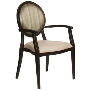 Wholesale White Stackable Round Back Wood Wedding Chair pictures & photos