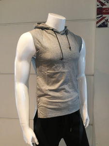 High-End Custom Printing Sleeveless Mens Hoodie pictures & photos