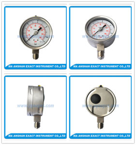 High Quality Pressure Guage-Lower Enrty Pressure Gauge-Oil Filled Pressure Guage pictures & photos