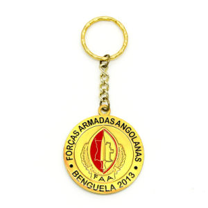 Promotion Enamel Metal Gold Key Chain pictures & photos