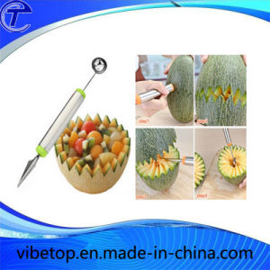 Stainless Steel Fruit Dig Ball Spoon with Engraving Function (KT-02) pictures & photos