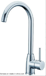 Watermark and Wels Approved Sanitary Wares Single Handle Brass Chrome Plated Kitchen Faucet (12G-106) pictures & photos