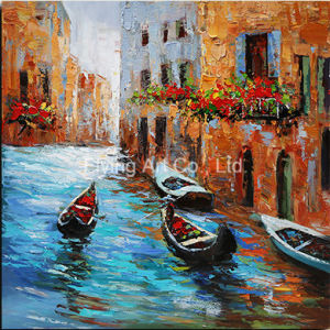 Craft Art Oil Painting with Frame for Home Decoratiopn pictures & photos