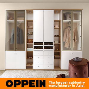 Oppein Modern White Melamine Hinged Wardrobe (YP0501642) pictures & photos