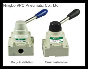 R Series Pneumatic Hand Rotary Valve Operated Hand Rotary Valve Alloy Hand Rotary Valve Hand Switching Valve pictures & photos