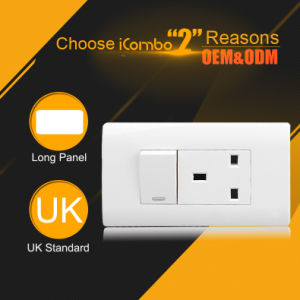120 Type 13A 1 Gang Wall Switched and Socket White Color