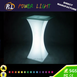 Garden Furniture Illuminated Plastic LED Table pictures & photos