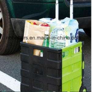 High Quality Double Color Plastic Shopping Trolley Cart pictures & photos
