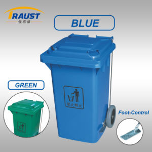 High Quality Outdoor 120L Plastic Dustbin for Sale pictures & photos