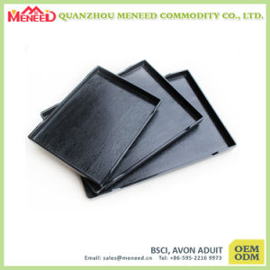 Best Selling Black Color Rectangular Shape Melamine Serving Tray pictures & photos