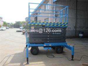 500kg 11meter Walking Hydraulic Scissor Lift (SJY0.5-11) pictures & photos