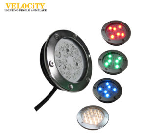 18PCS High Power IP68 Stainless Steel LED Underwater Pool Fountain Light Multi Color pictures & photos