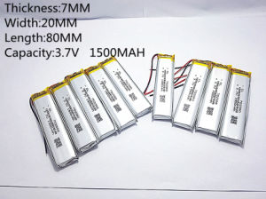 3.7V, 1500mAh, 702080 Li-ion Battery for Toy pictures & photos