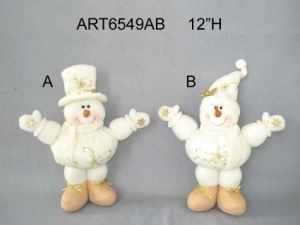 Floppy Standing Snowman Christmas Gift with Hand Embroidery Design-2assst. pictures & photos