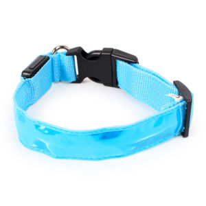 Safety Nylon LED Pet Dog Collar 2.5cm Wide Pet Products for Small Medium Dogs pictures & photos