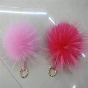High Quality Natural Raccoon Fur Pompom Fur Ball pictures & photos