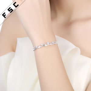 New Fashion Silver Plated Simple Open Cuff Bracelet Bangles pictures & photos