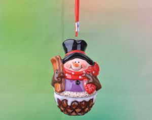 Ceramic Christmas Ornaments Santa & Snowman Iridescent pictures & photos