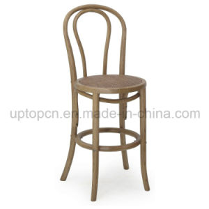 Famous Design High Bar Thonet Chair Furniture with Knitting on Chair Seat (SP-EC447) pictures & photos