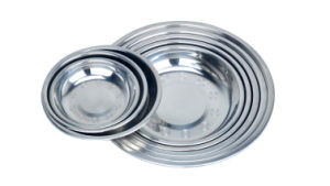 Stainless Steel Round Food Plate/Round Food Tray pictures & photos