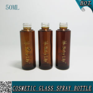 50ml Amber Screen Printing Lotion Spray Glass Bottle Design pictures & photos