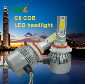 LED Headlights for Cars Motorcycles C6 H4 H13 9004 (9007) H1 H3 H7 H8 H9 H11 9005hb4 9006hb3 880 881 H15 9012 pictures & photos