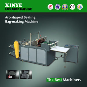 PVC PE Arc-Shaped Sealing Plastic Bag Making Machine pictures & photos