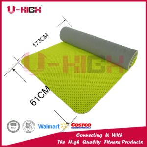 Dual Color Honeycomb on Front Side TPE Yoga Mat Exercise pictures & photos