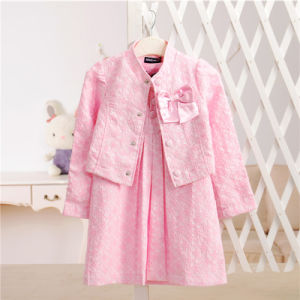 Girls Formal Suit Sundress and Coat for Pring and Autumn Children Clothing pictures & photos