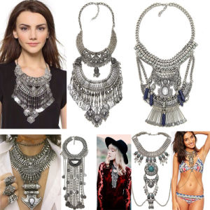 Fashion Vintage Metal Tassel Statement Necklace Jewelry pictures & photos