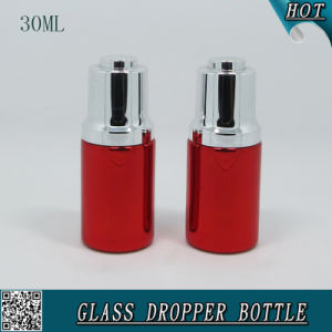 30ml Cosmetic Liquid Essence Serum Dropper Bottle Red Aluminum Essential Oil Bottle pictures & photos