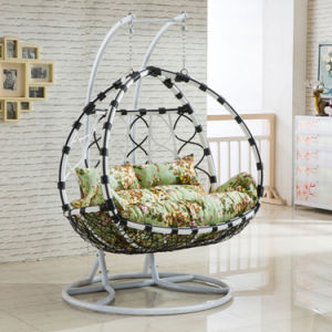 New Outdoor Swing Egg Chair, PE Rattan Furniture, Rattan Basket Double Seater (D156C) pictures & photos