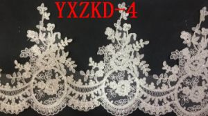 Chinese Factory Lace Appliques for Wedding Gown pictures & photos