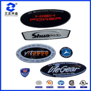 Custom Oval Polyurethane Epoxy 3D Doming Resin Adhesive Domed Label Stickers (SZXY304) pictures & photos