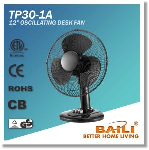 """Popular 12"""" Oscillating Cooling Desk Fan with Tilting Angle and Oscillation pictures & photos"""