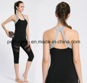 Womens Nylon and Spandex Sexy Tank Top Fitness Yoga Vest pictures & photos
