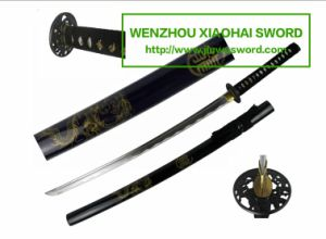 Dragon Handmade Katana Wakizashi Tanto Sword HK101 pictures & photos