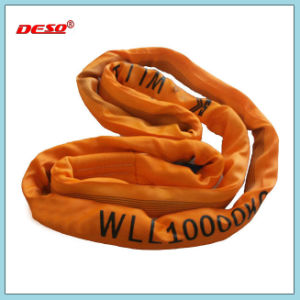 Ce Certified Lifting Round Webbing Sling with Eye pictures & photos