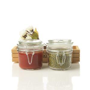 200ml Glass Storage Jar, Glass Jam Jar with Buckle, Mini Glass Food Jar!