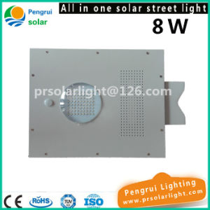 8W Integrated LED Solar Street Sensor Light with Remote Control for Garden