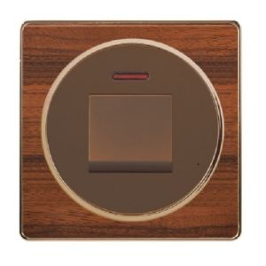 British Standard Wood-Textured One Gang 45A Wall Switch pictures & photos