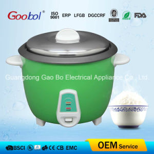 Ce Standard Electric Rice Cooker Stainless Steel Lid Green Colour pictures & photos