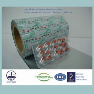 Pharmaceutical Aluminum Blister Foil (Hard Alloy H18, 0.024mm standardized thickness) pictures & photos