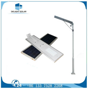 Free Sample 30W PIR Sensor Lithium Battery All in One Solar Street Light pictures & photos