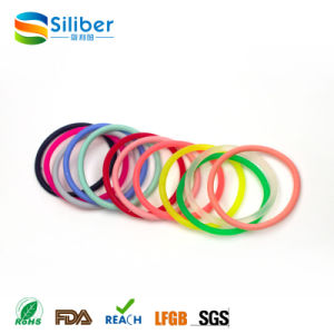 Rainbow Color Silicone Bracelet Woman Elastic Hair Band pictures & photos