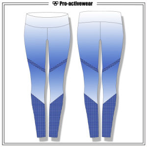 Polyester Spandex Pants Quick Dry Sublimtion Sportswear Customized Women Leggings pictures & photos