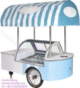 Italian Gelato Ice Cream Cart Showcase/Ice Cream Freezers for Sale pictures & photos