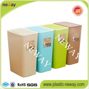 Household Push Plastic Waste Bin pictures & photos