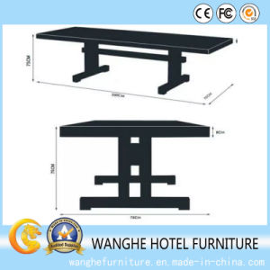 Restaurant Furniture Elegant Solid Wood Square Rectangle Dining Table Dining Set pictures & photos